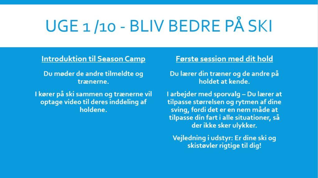 Camp program week 01