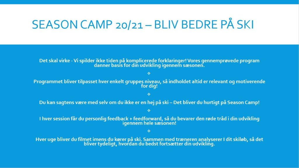 Season Camp Program