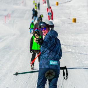Skischoolonline instruktør i tallerkenlift